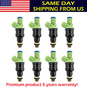 Set 8 0280150558 42lbs Fuel Injectors 440cc Turbo 42 Lb Hr For Gm Ford Mustang