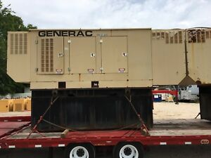 Generac 400kw Diesel Generator Sound Enclosure 226 Hours And Transfer Switch
