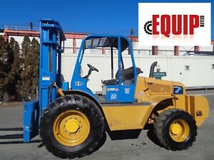 2013 Omega 2410 10 10 000 Lbs 4x4 Rough Terrain Diesel Forklift Only 260 Hours