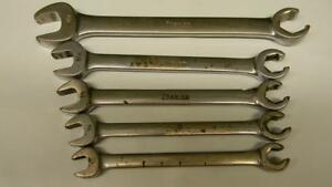 Snap On 5pc Sae Open End Flare Nut Wrench Set