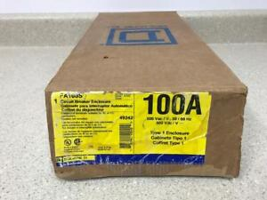 Square D Fa100s Circuit Breaker Enclosure 100a 600v new