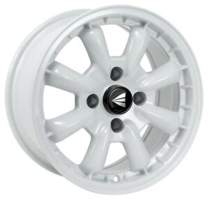 16x8 Enkei Compe 4x100 38 White Wheels Rims Set 4