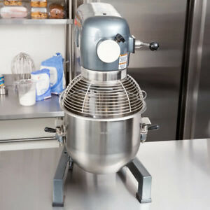 Commercial Dough 20 Qt Planetary Stand Mixer W guard 3 Attachments Gear Driven