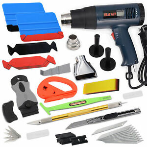 Pro Car Vinyl Wrapping Tools Felt Squeegee Film Heat Gun Window Tint Us Ship