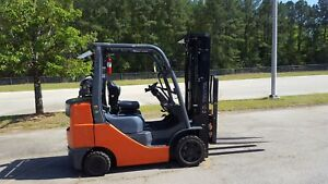 2014 Toyota 8fgcu30 Forklift Truck 187 4 way W side Shifting Fork Positioner