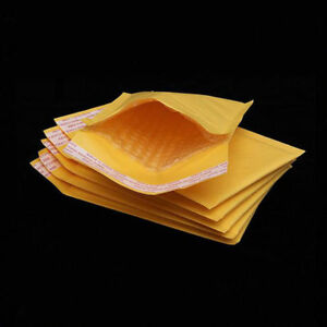 10 100pc 000 Kraft Bubble Envelopes Padded Mailers Shipping Case Self Seal Bags