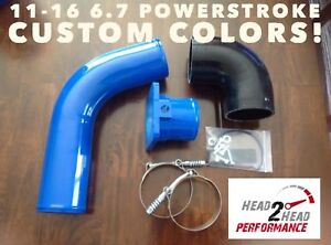 11 16 6 7 Ford Powerstroke Intercooler Cold Side Kit Custom Color Powder Coat