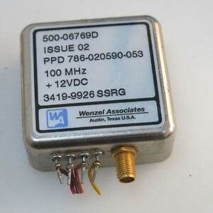 1pc Wenzel Associates 500 06769d 12v 100mhz Sma Thermostatic Crystal