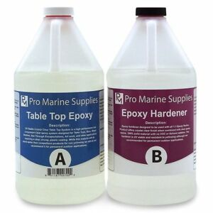 Epoxy Resin Crystal Clear 1 Gallon Kit For Super Gloss Coating