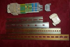 4 Din Rail Ovr Current Switch Fuse Holders Push Connect End Stop Terminals