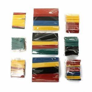 328pc 2 1 Polyolefin Heat Shrink Tubing Tube Sleeve Wrap Wire Assortment 8 Size