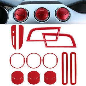 15pcs Interior Accessories Decoration Trim Dashboard Cover For Ford Mustang ya
