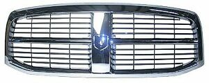 New Chrome Dodge Ram Grille Fits Years 2006 2009 Ch1200282