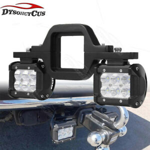 Fit Ford F150 250 350 Ranger Backup Rear Lower Tow Hitch 18w Led Light Bar Kits