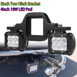 Fit Chevy Silverado 1500 2500 3500 Tow Hitch Bracket Backup Reverse Led Lamp Bar
