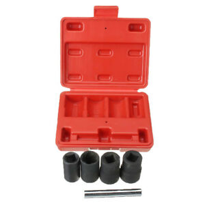 Magideal 5pcs Twist Socket Lug Nut Removal Kit Locking Wheel Nut Removal