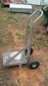 Heavy Duty Aluminum Hand Truck 2 Wheel Dolly Push Moving Cart Boxes Heavy Base