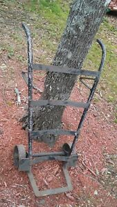 Antique Vintage Hand Truck 2 Wheel Dolly Push Moving Cart