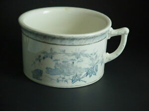 Adamantine China Chamber Pot Semi Porcelain La Belle Pottery Co C 1888