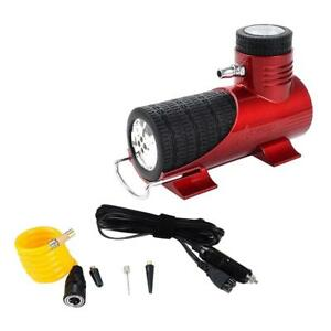 12v Mini Air Compressor Auto Car Electric Tire Air Inflator Pump Tool Red