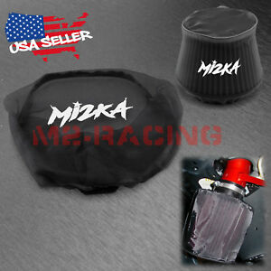 Black Engine Cold Air Intake Pre Filter Conical Cover Water Repellent Washable