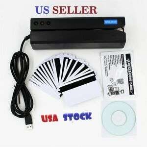 Msr605x Magnetic Stripe Card Reader Writer Encoder Credit Msr206 Msr605 New Usa