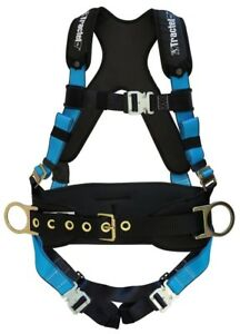 Tractel Small Fall Protection Construction Harness Padding Belt Auto Buckles