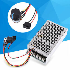 10 50v 100a 5000w Reversible Dc Motor Speed Controller Pwm Control Soft Start Gd