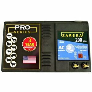 Zareba Chargers Eac200m z Ac powered Low impedance 200 mile range W Free Storm