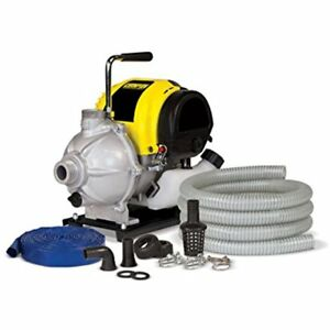 Champion Categories 1 inch Gas powered Water Transfer Pump With Hose Kit