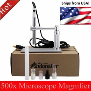 5mp Usb 500x 8 Led Digital Microscope Endoscope Magnifier Camera lift Stand Pw