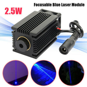 445nm 2 5w 2500mw Blue Laser Module With Heatsink Diy Laser Cutter Engraver Usa