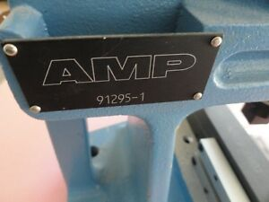 Amp 91295 1 Bench Top Connectivity Arbor Press W Cover Closing Die