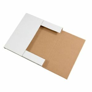 White Multi Depth Bookfold Mailer Book Box Bookfolds Shipping Box any Sizes