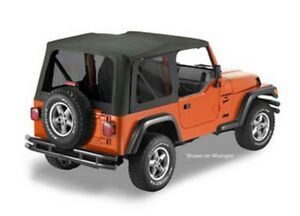 Bestop 79140 35 Jeep Tj Replace a top Sailcloth Full Steel Doors Black Diamond