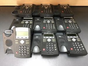 Polycom Soundpoint Ip 330 Sip Phone And Stand Voip Telephone lot Of 9