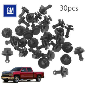 30pcs For Chevy Silverado 1500 Hd Front Bumper Air Dam Deflector Retainer Clip