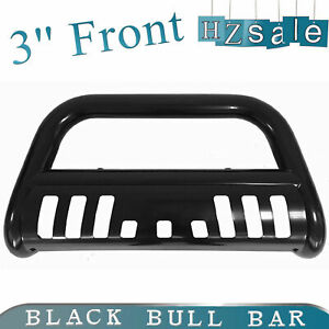 Fit 1994 2001 Dodge Ram 1500 3 Front Push Bumper Black Bull Bar With Skid Plate