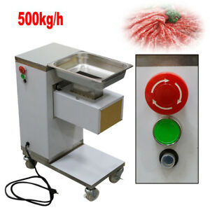 110v Stainless Commercial Meat Slicer Cutting Machine Cutter 500kg h 3mm Blade