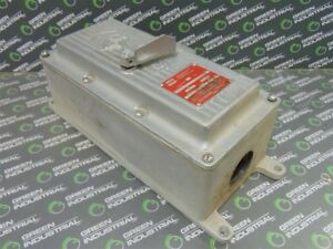 Used Crouse hinds Ge 70 Amp Enclosed Circuit Breaker Dvs142tt70 3 Ted134070