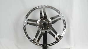 22 Inch Forged Wheel Centers New 40 Hole 3 Piece Wheel Faces 5x112mm Chrome