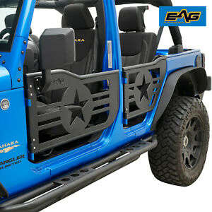 07 18 Jeep Wrangler Jk 4 Dr Military Star Replacement 4 Tube Doors With Mirrors