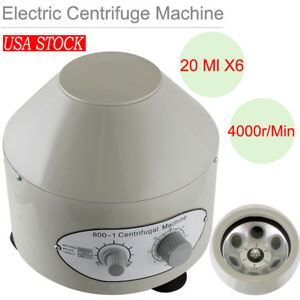Benchtop Electric Lab Centrifuge Laboratory Medical Practice 4000rpm 20 Ml X 6