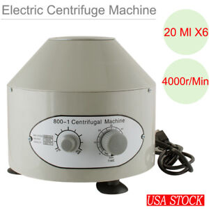800 1 Electric Centrifuge Machine Lab Medical Practice 110v 4000 Rpm 20ml X 6 Us