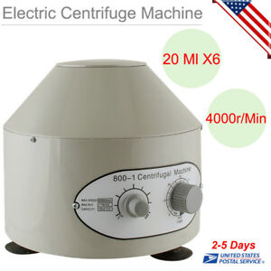 800 1 Electric Centrifuge Machine Lab Laboratory Medical 4000rpm W 6x20ml Rotor