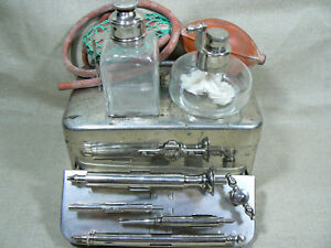 Vtg 19thc German Aesculap Thermo Cautery Doctor Medical Surgical Instruments Set