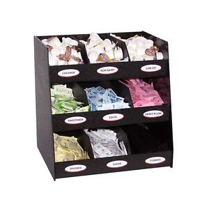 Condiment Display Caddy With Removable Dividers Black Abs Jb Plastics