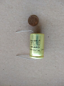 Axial Electrolytic Capacitor 220uf 160vdc Box Of 200