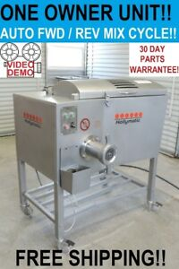 Hollymatic 900e Commercial Butcher Shop Meat Grinder Mixer Chopper Extruder