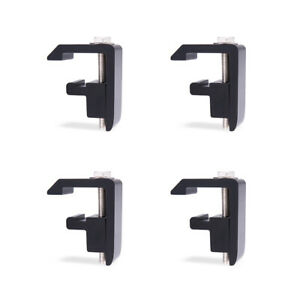 Track Mounting C Clamp For Toyota Tacoma tundra Truck Cap camper Shell Black